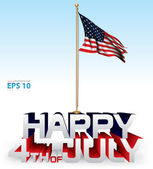 Happy 4th of July vector background — Stock Vector