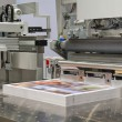 Stock Photo: Cutting machine in print shop