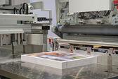 Cutting machine in a print shop — Stock Photo