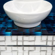 Ceramic bowl in a bathroom — Stock Photo
