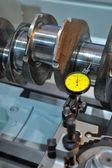 Examination of a crankshaft — Stock Photo
