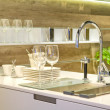 Sink in modern built in ki — Stock Photo #19364909