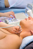 Sonography of thyroid gland — Stock Photo