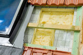 Thermal insulation of a roof — Stock Photo