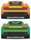Futuristic cars — Stock Vector