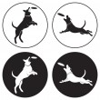 The figure shows the dog-frisbee - Stockvectorbeeld
