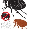 Stock Vector: Flea