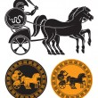 Chariot with gladiator — Stock Vector