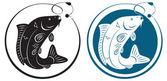 Na rysunku pokazano ryby z hakiem — Wektor stockowy