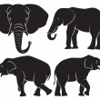 Stock Vector: The figure shows the animal elephant