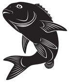 The figure shows sea bass — Stock Vector