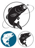 The figure shows fish bass — Stock Vector
