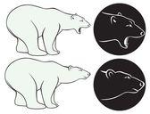 La figura muestra un oso — Vector de stock