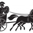 Stock Vector: Figure shows chariot with gladiator