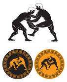 Greco-roman wrestling — Stockvektor