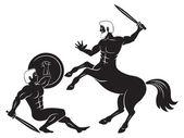 Herkules und zentaur — Stockvektor