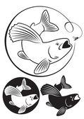 Fish grayling — Stockvektor