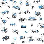 Seamless backdrop transport icons — Stock Vector