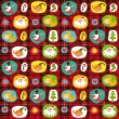 Christmas set, wrapping paper, plaid tartan — Stock Vector