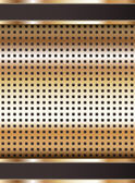 Background template, copper metallic texture — Stock Vector