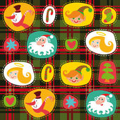 Christmas tartan, plaid pattern background — Stock Vector