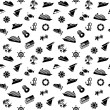 Wrapping paper - transport icons, wallpaper, 10eps — Stock Vector