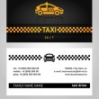 Business cards taxi cab — Stock Vector