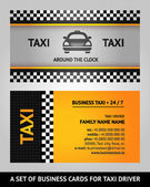 Business cards taxi — Stock Vector