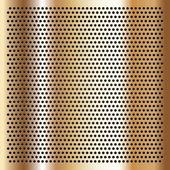 Gold background perforated sheet — Stock Vector