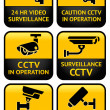 Security camera sign set — Stock Vector #13422274