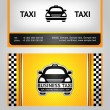 Stock Vector: Business cards taxi set