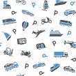 Seamless background transport icons - wrapping paper, 10eps — Stock Vector