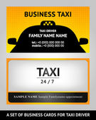 Business cards taxi - set — Stock Vector