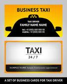 Visitenkarten taxi - set — Stockvektor