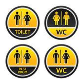 Toilet symbols — Stock Vector