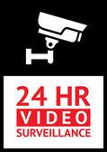 Sticker camera surveillance — Stock Vector
