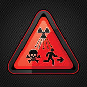 New Symbol Launched to Warn Public About Radiation Dangers — Stock Vector
