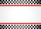 Carreras de fondo rojo — Vector de stock