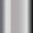 Stock Vector: Metallic perforated chromium sheet