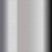 Metallic perforated chromium sheet — Stock Vector