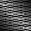 Abstract perforated metallic dark background — Stock Vector