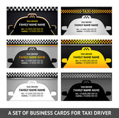 Business card taxi - fifth set — Stock Vector