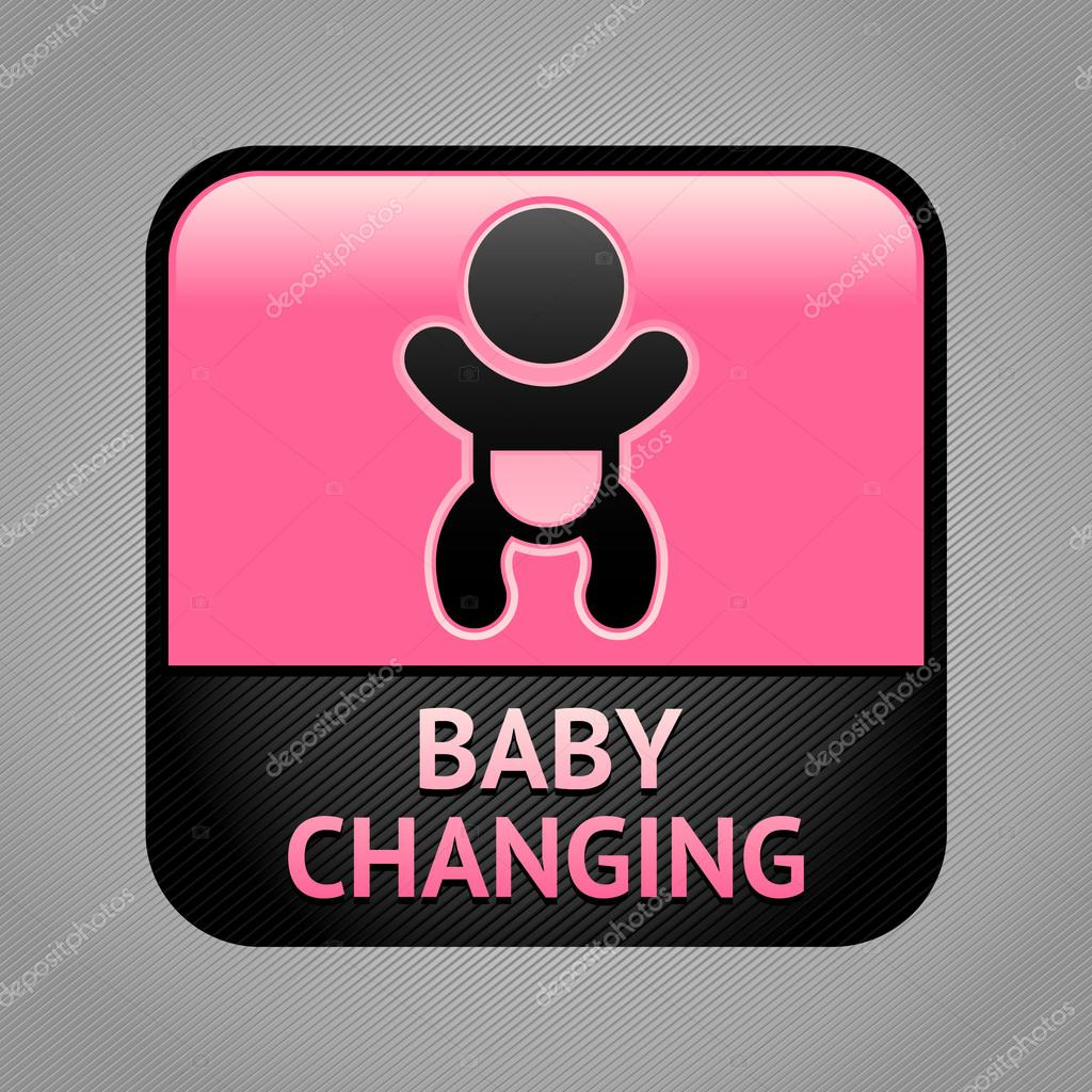 Baby changing facilities room symbol, public information sign — Stock Vector #14767857