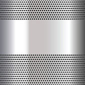 Gray background perforated sheet — Stock Vector
