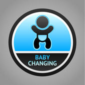 Symbol baby changing — Stock Vector