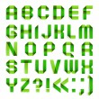 Alphabet folded paper - Green letters. — Stock Vector