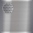 Stock Vector: Chrome metal sheet surface with holes, 10eps
