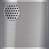 Chrome metal sheet surface with holes, 10eps — Stock Vector
