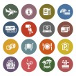 Recreation, Travel & Vacation, icons set — Vecteur #16180971