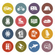 Vacation, Recreation & Travel, icons set — Stock Vector